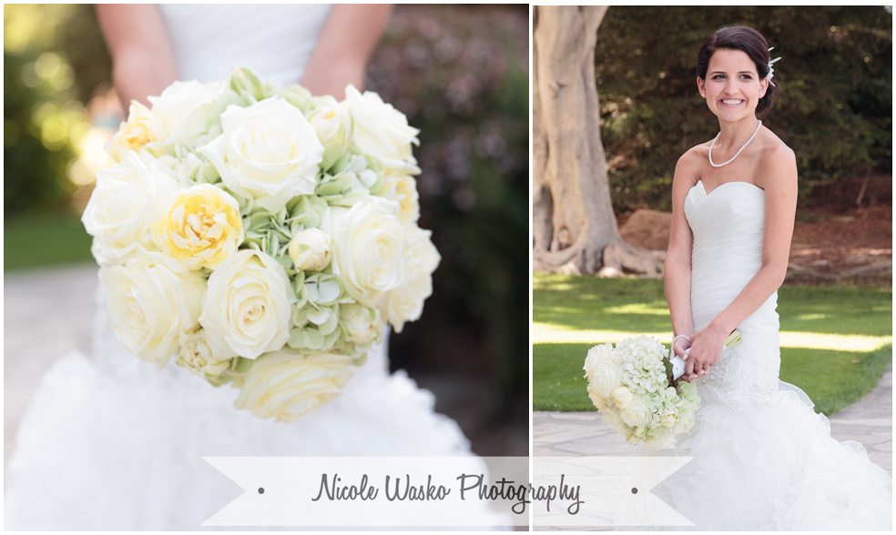 Santa Barbara Photographer Bridal Portrait Bouquet